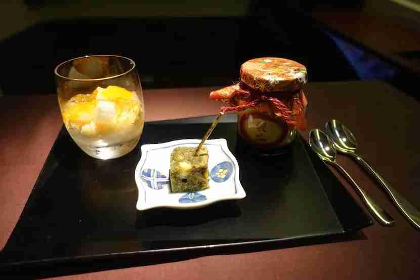 JAL first class dessert