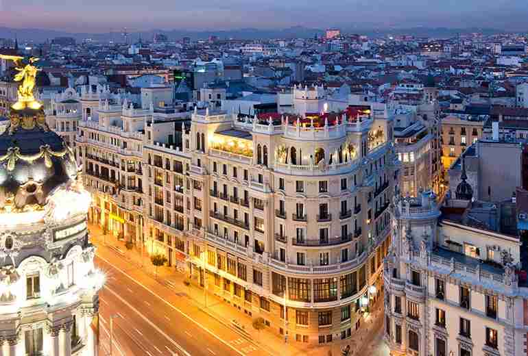 The Principal exterior. Image by the Principal Hotel Madrid.