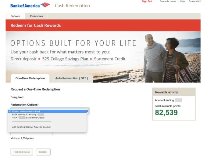 How to Redeem Points Using the BofA Premium Rewards Card