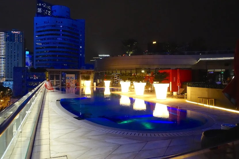 W Shanghai pool night