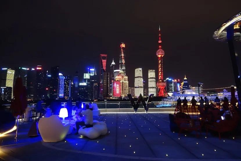 W Shanghai view night good