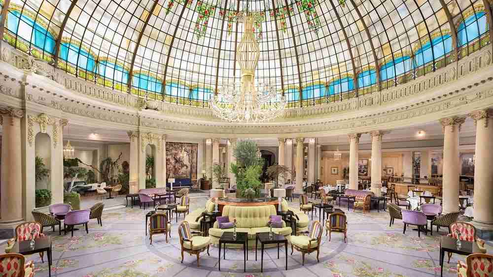 The Opera Brunch is held in this fancy room at Westin Palace Madrid. Photo courtesy of hotel.