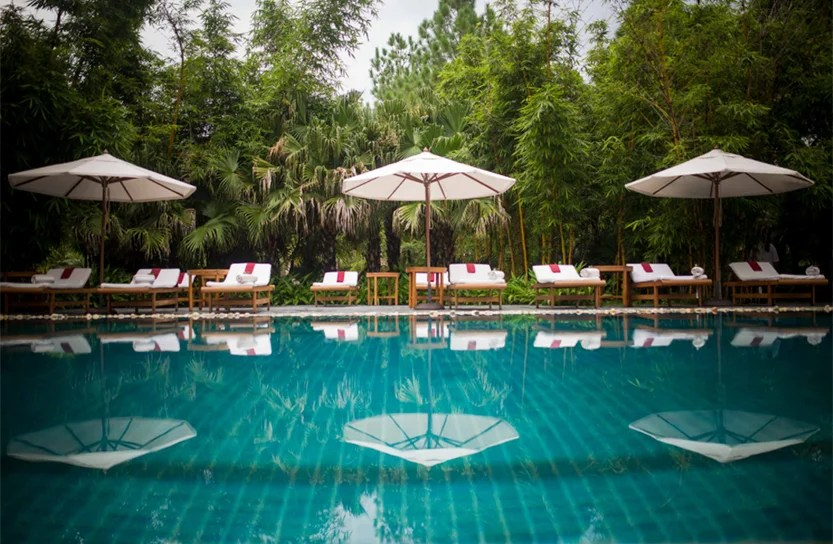 Ananda is a luxury spa and retreat that