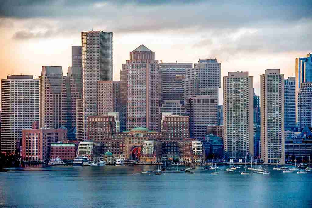 The Boston skyline. Photo by Rick Friedman/Corbis via Getty Images.