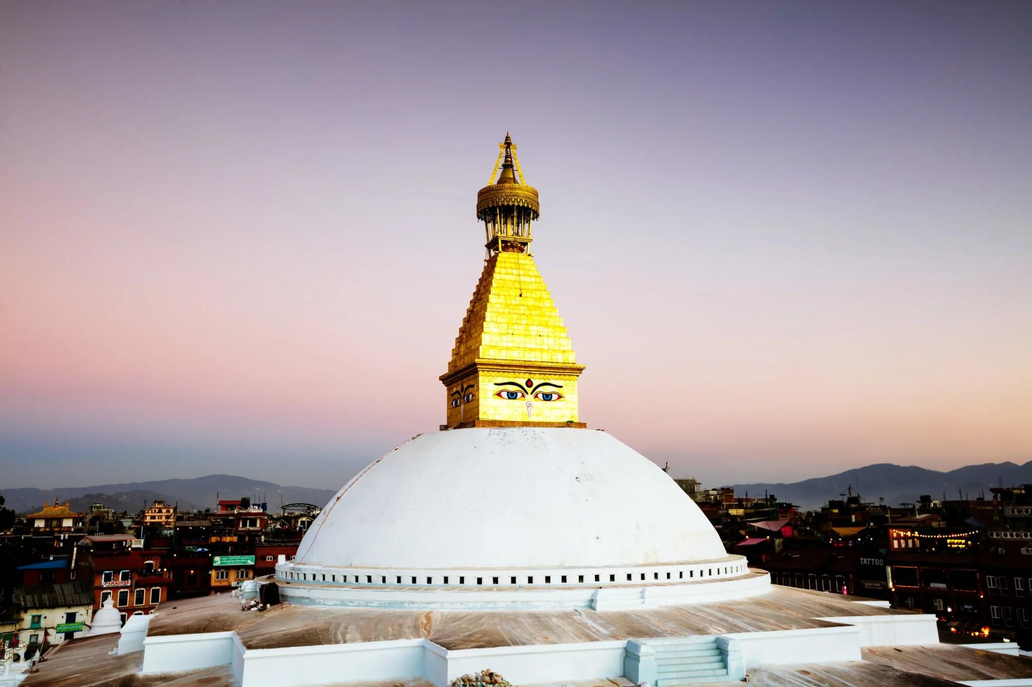 Boudhanath stupa, a famous Buddhist landmark in Kathmandu, Nepal. Image by Matteo Colombo.