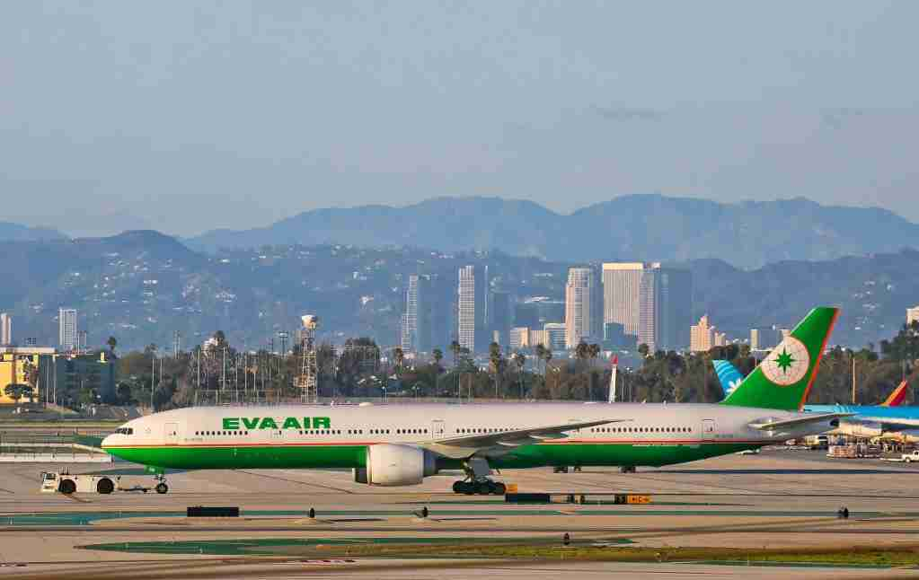 LOS ANGELES, CA - FEBRUARY 06: Taiwan Eva Air Boeing 777 at LAX on February 06, 2017 in Los Angeles, California. (Photo by FG/Bauer-Griffin/GC Images)