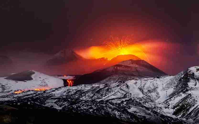mount etna, etna, sicily, volcano