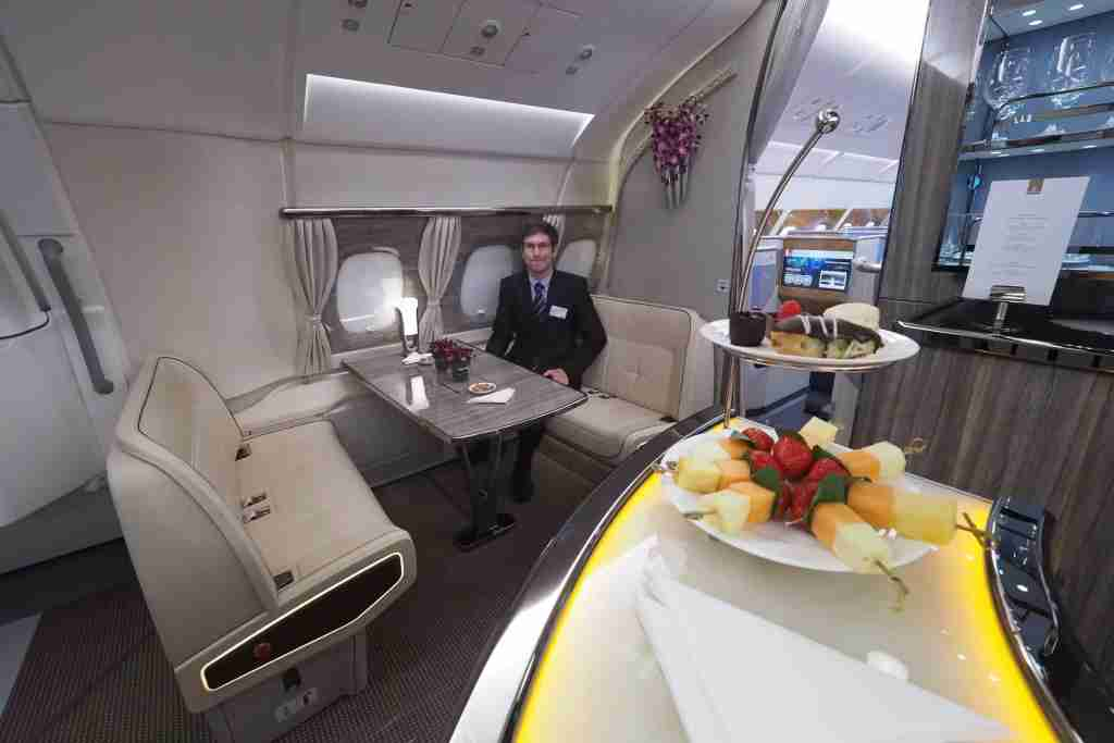 Emirates A380 New Business Class Bar