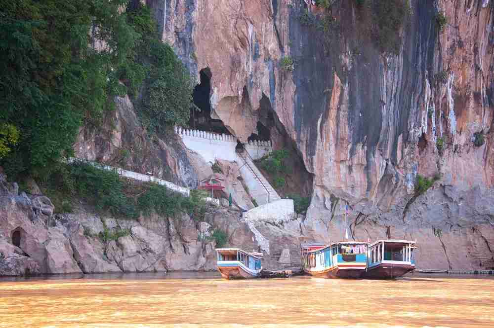 The Pak Ou Caves on the Mekong River in Laos. Image by manx_in_the_world / Getty.