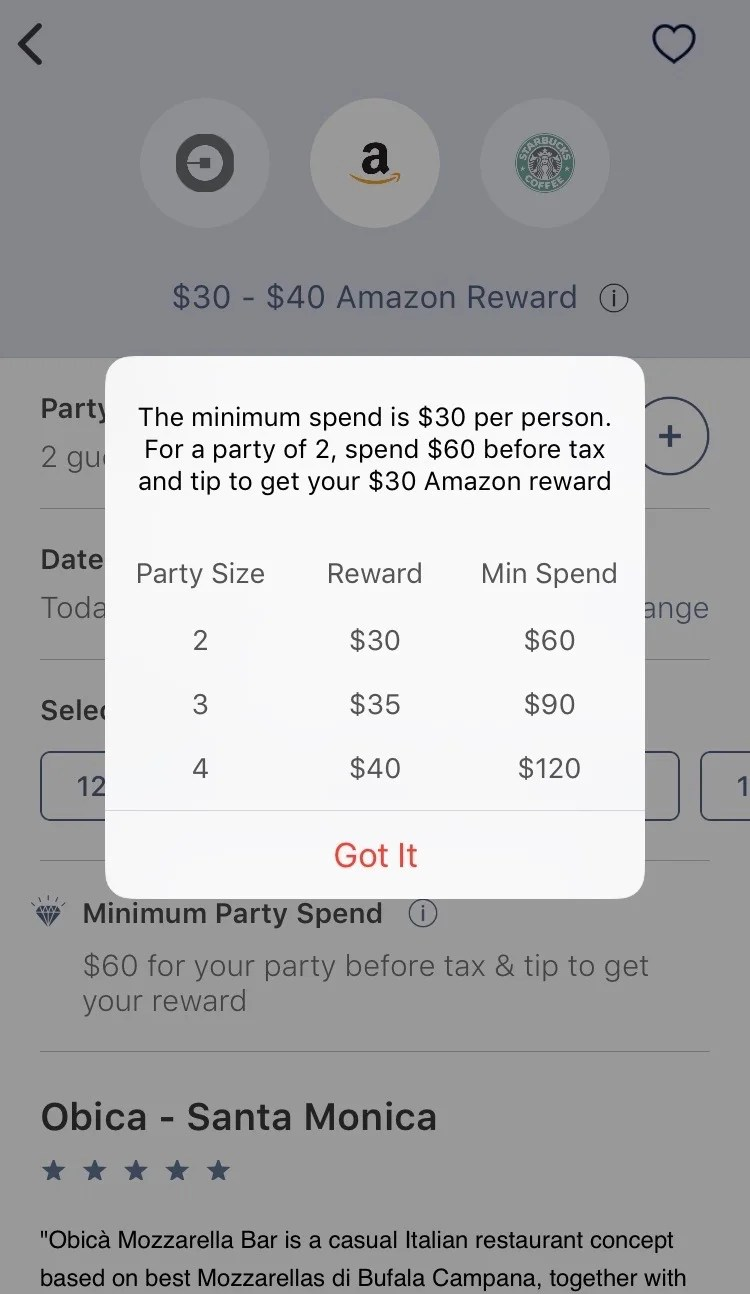 App Review Seated Rewards For Dining Out