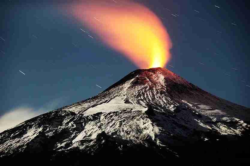 villarica, volcano, chile