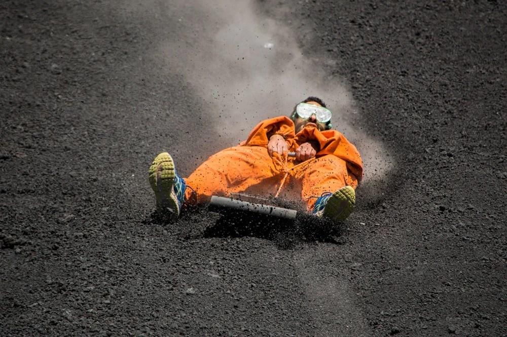 Volcano boarding in Nicaragua isn