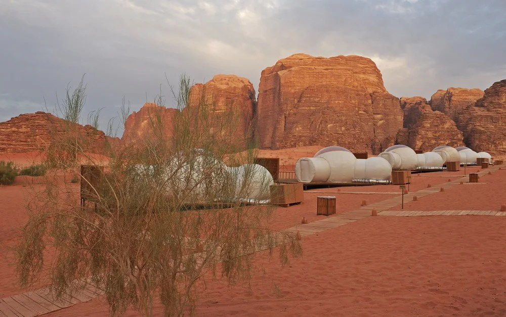 Desert bubbles at Wadi Run Night Luxury Camp.