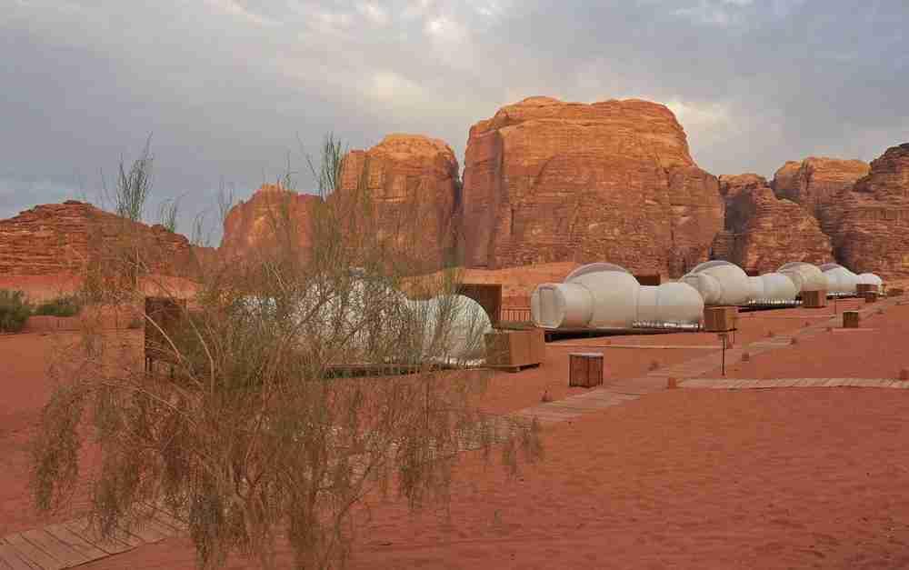 Desert bubbles at Wadi Run Night Luxury Camp.