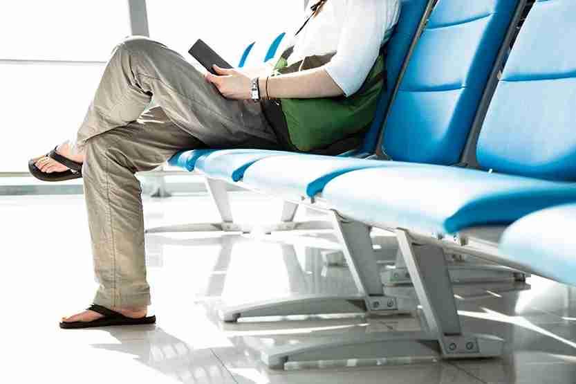 airport flip-flops