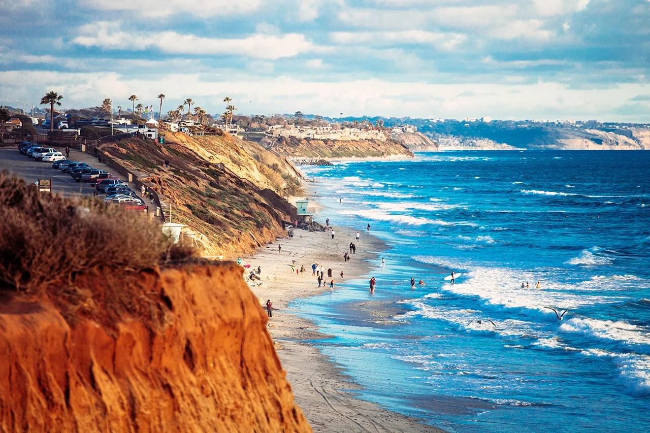 Coastal view from Encinitas, San Diego. Photo by Peeter Viisimaa / Getty Images.