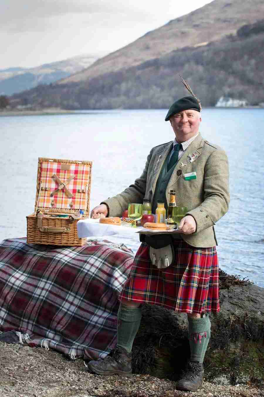 Picnic butler Jack Black is ready to give you a taste of Scotland. Photo courtesy of VisitScotland.