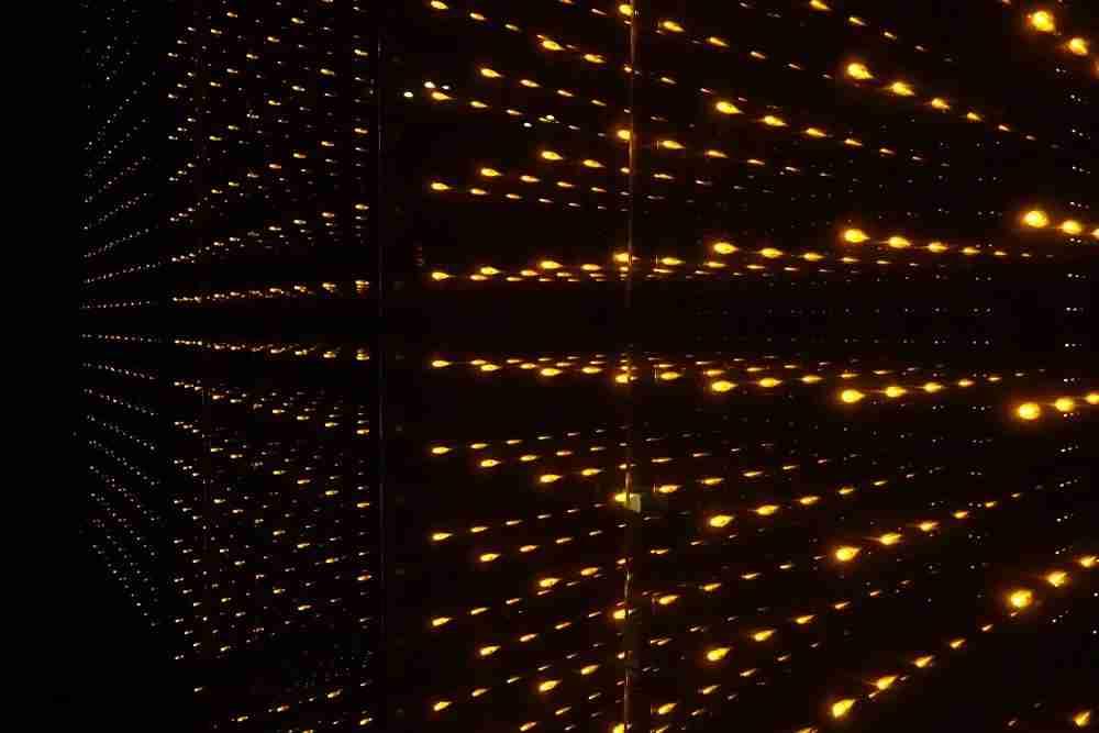 The elevators at the W Bogotá are dark.