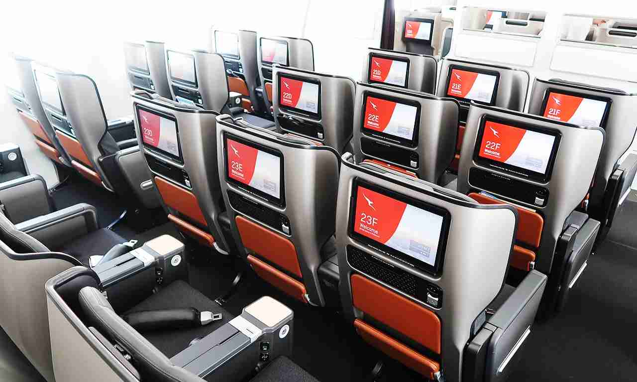 The premium ecnomy cabin.