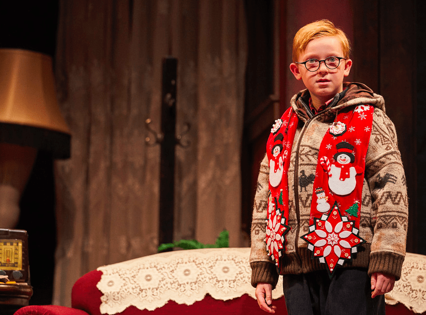 Watch A Christmas Story come to life in Cleveland. Image courtesy of Roger Mastroianni via Cleveland Playhouse