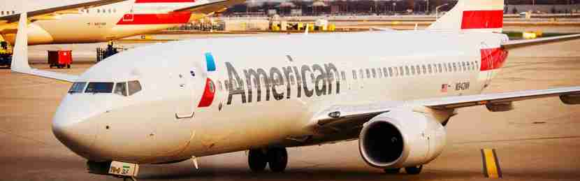 American Airlines plane heads to the gate at Chicago's O'Hare International Airport