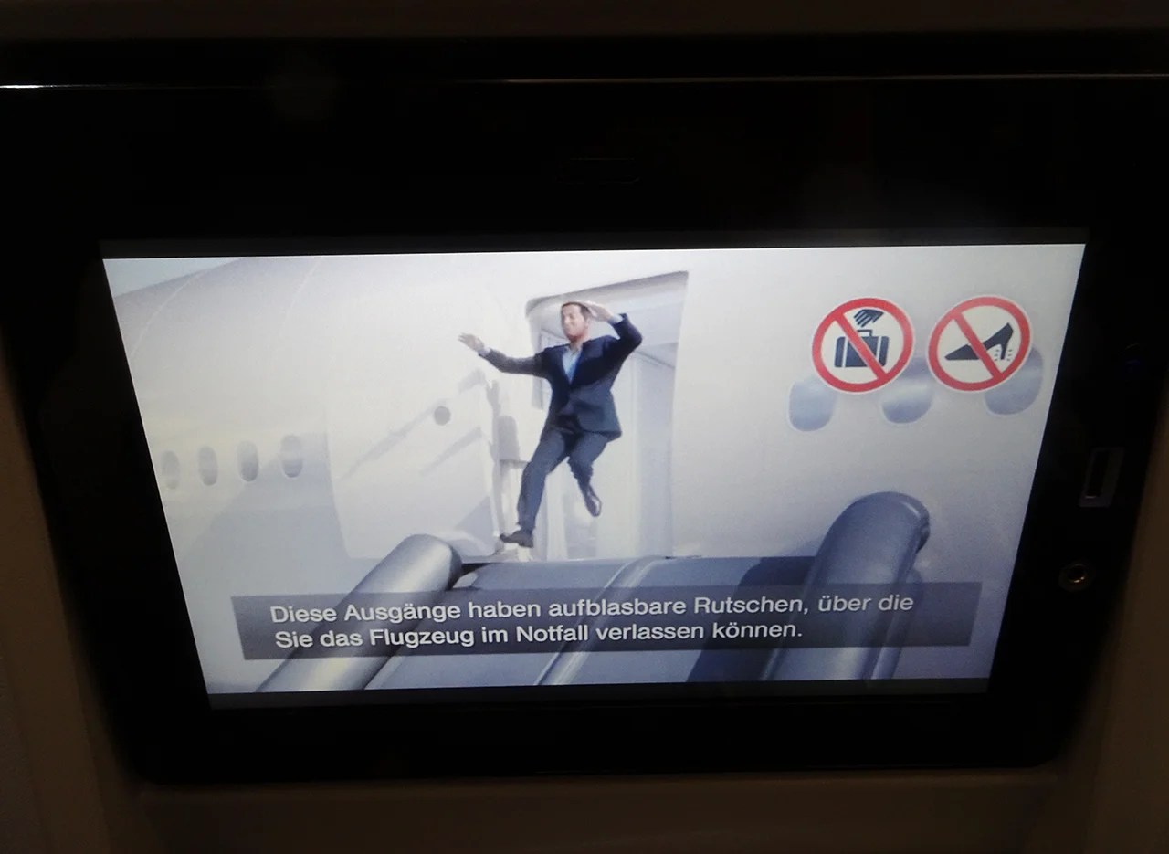I Particularly Enjoyed The Animation Of The Safety Video, As Shown On My  IFE Screen.