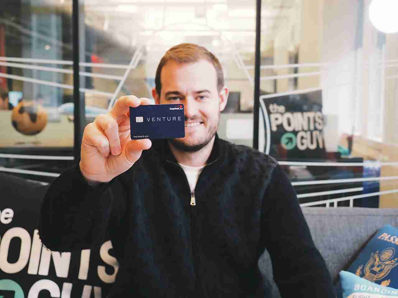 Brian Kelly with Capital One Venture card