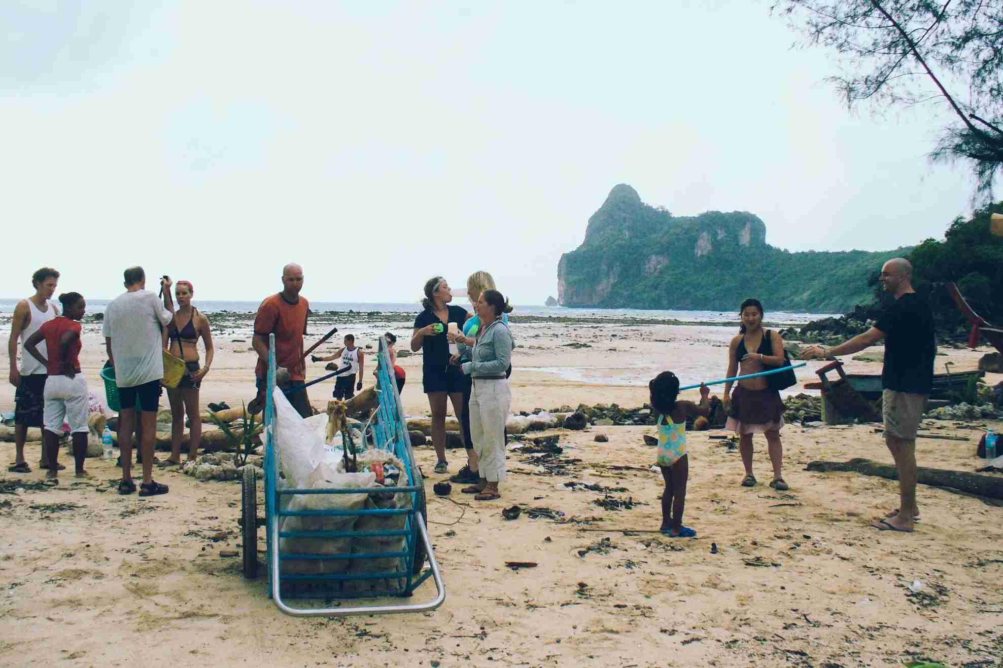 Phi Phi beach clean up