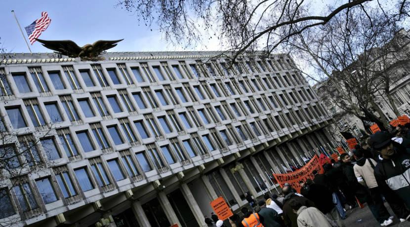 london embassy, eero saarinen, london, us