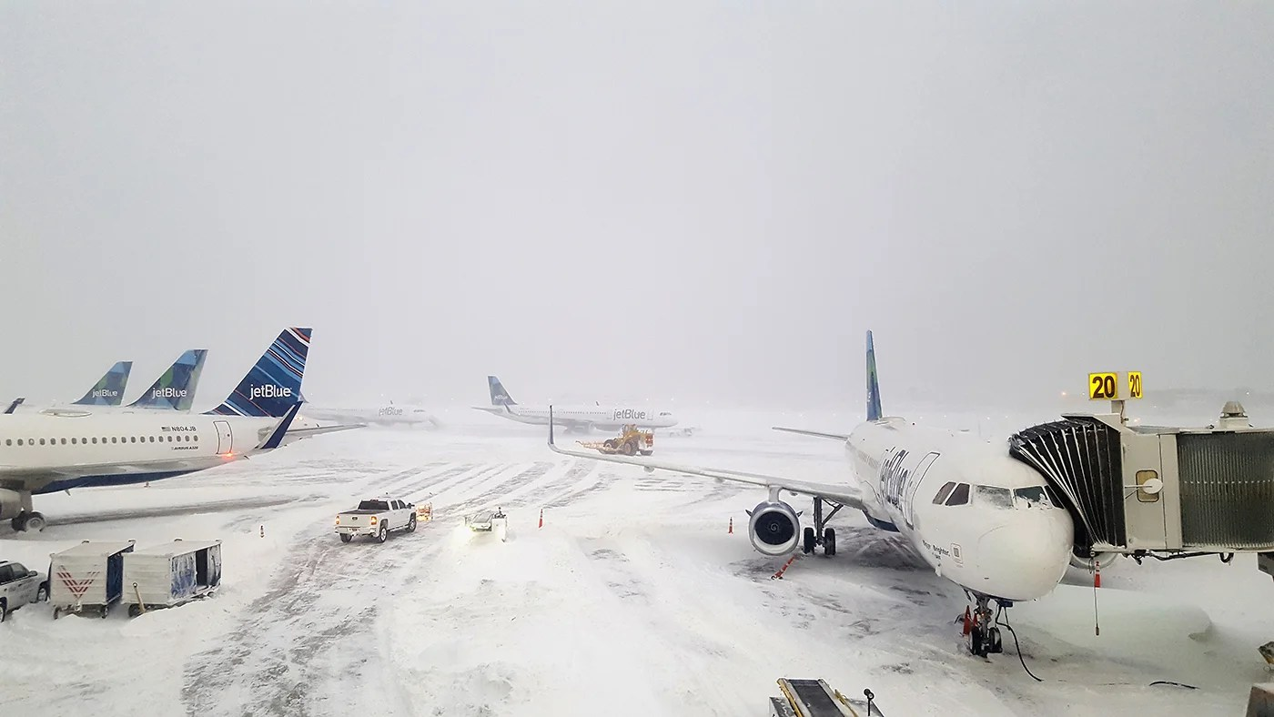 Winter Storms: Omaha's Airport Closed After Plane Skids Off Runway