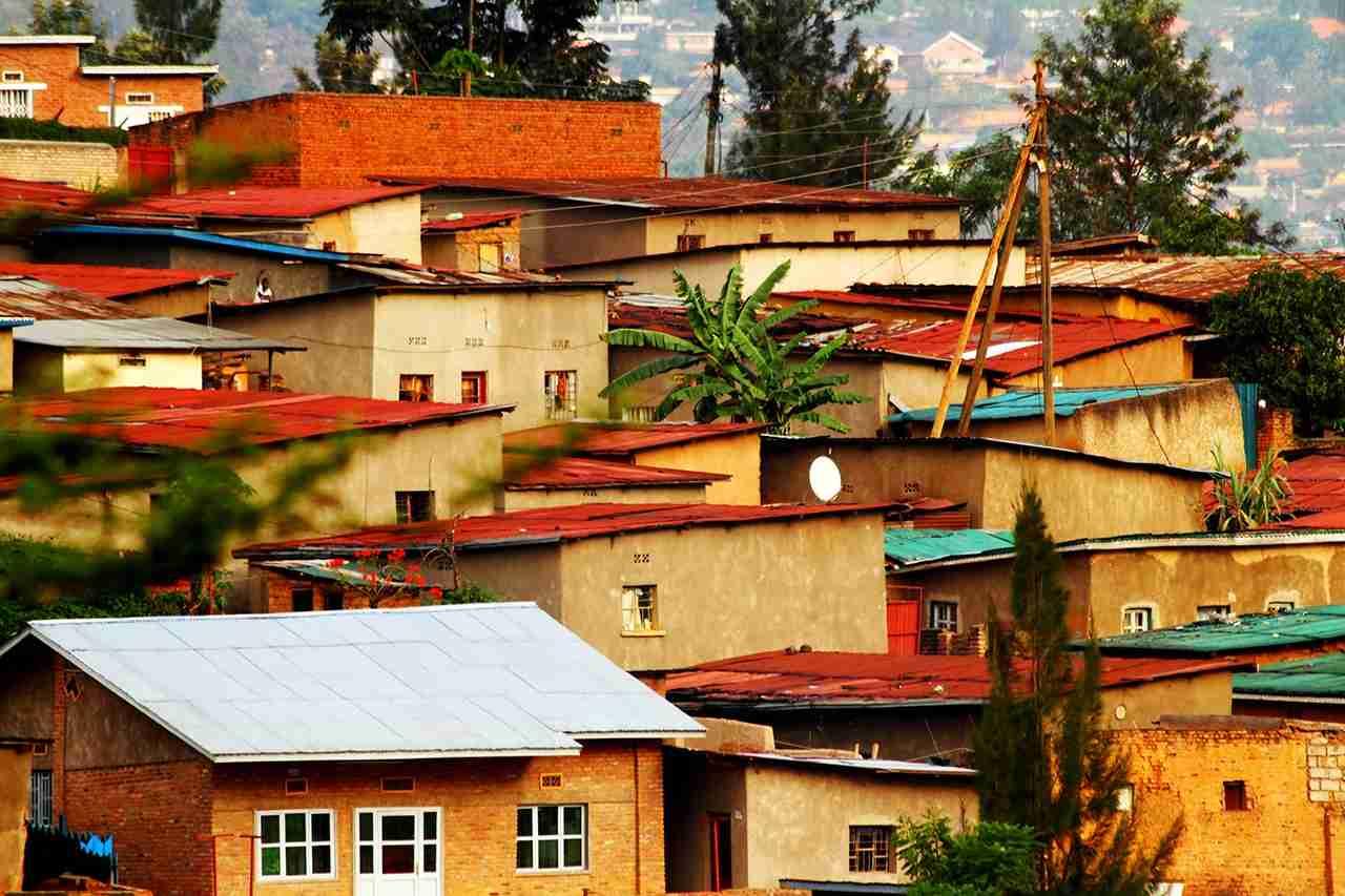 Colorful hillside homes in Kigali, Rwanda. (Photo by RyanFaas/Getty Images)