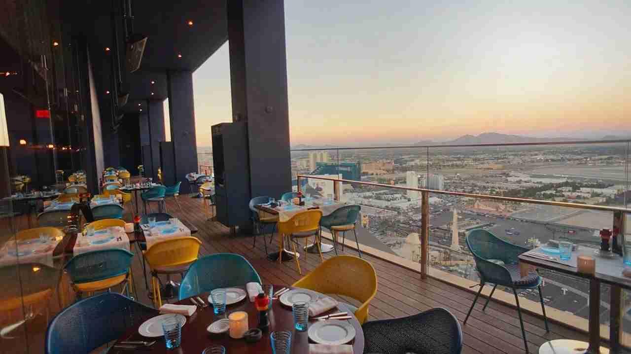 View from Rivea restaurant. (Photo courtesy Delano Las Vegas)