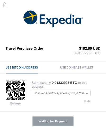 expedia bitcoin)