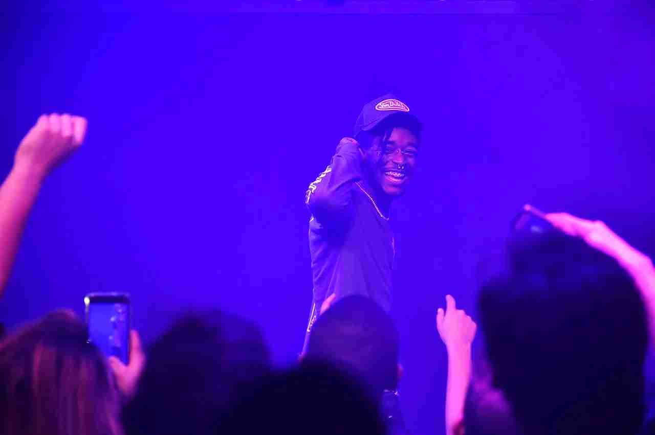 NEW YORK, NY - JANUARY 23: Rapper Lil Uzi Vert performs onstage during The Points Guy 2018 Grammy Party with Lil Uzi Vert on January 23, 2018 in New York City. (Photo by Mike Coppola/Getty Images for The Points Guy)