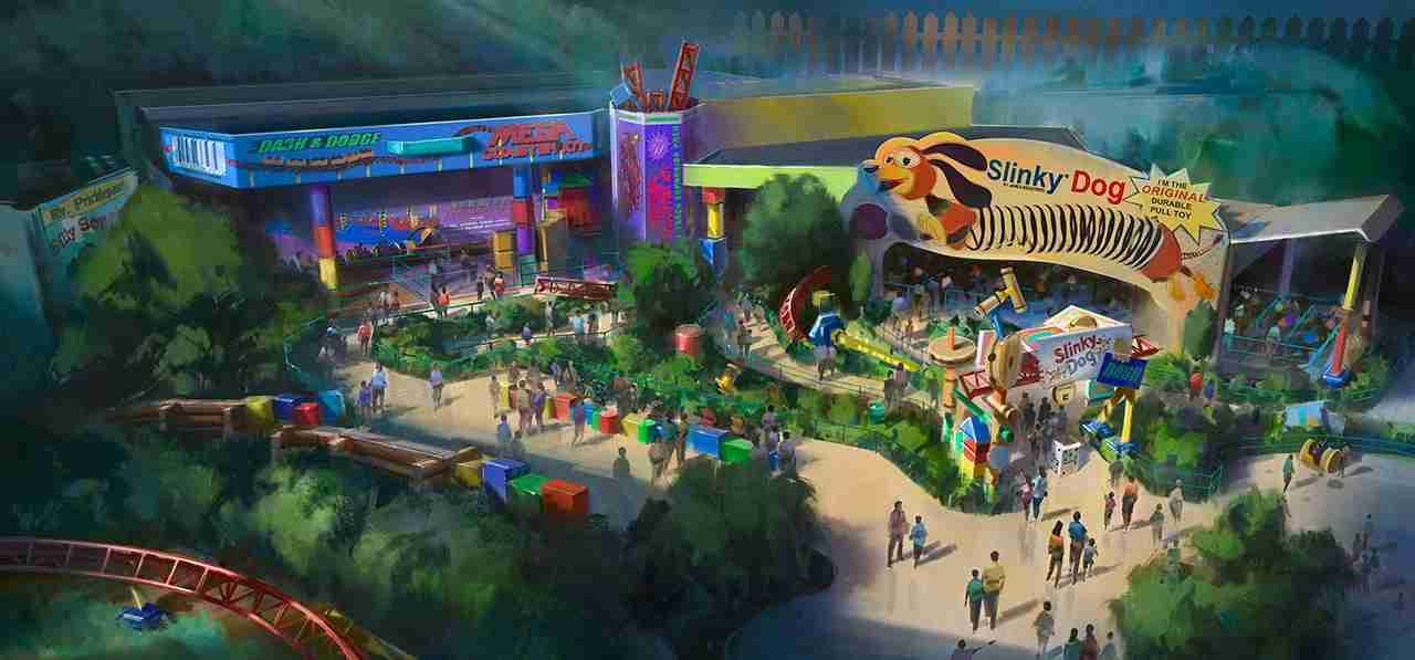 Artist rendering of Toy Story Land. Courtesy Disney Parks