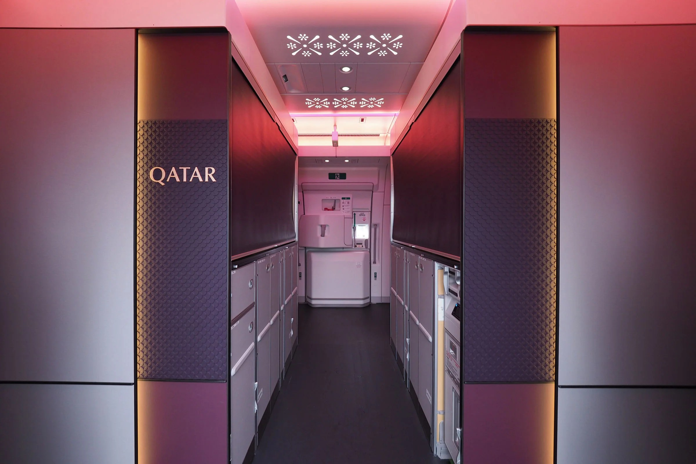 Inside the First Airbus A350-1000, With Qatar's Qsuite Biz