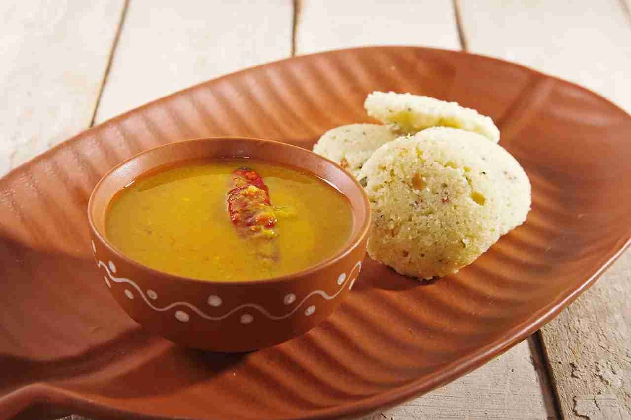 Sambar with Idli South Indian Dish. (Photo by mukesh-kumar/Getty Images)