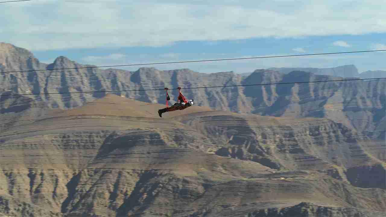 Jebel Jais Flight: The World's Longest Zipline. (Photo courtesy of Ras Al Khaimah)