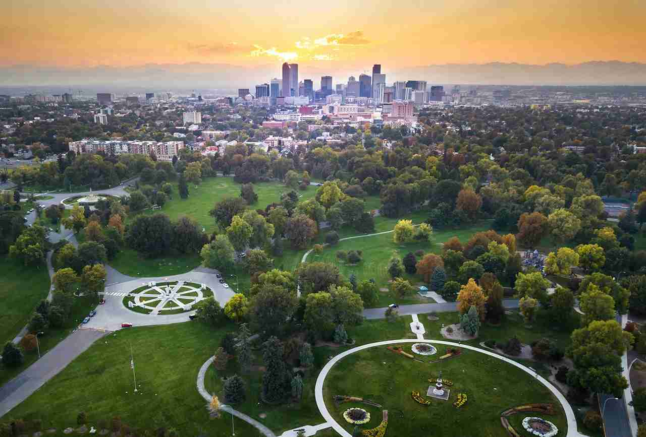 A beautiful sunset over Denver. Photo by Creative-Family/Getty Images.