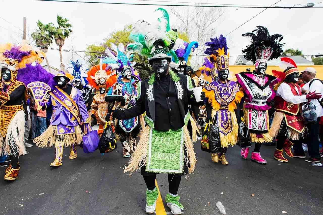 Zulu Tramps march in the Zulu Social Aid & Pleasure Club