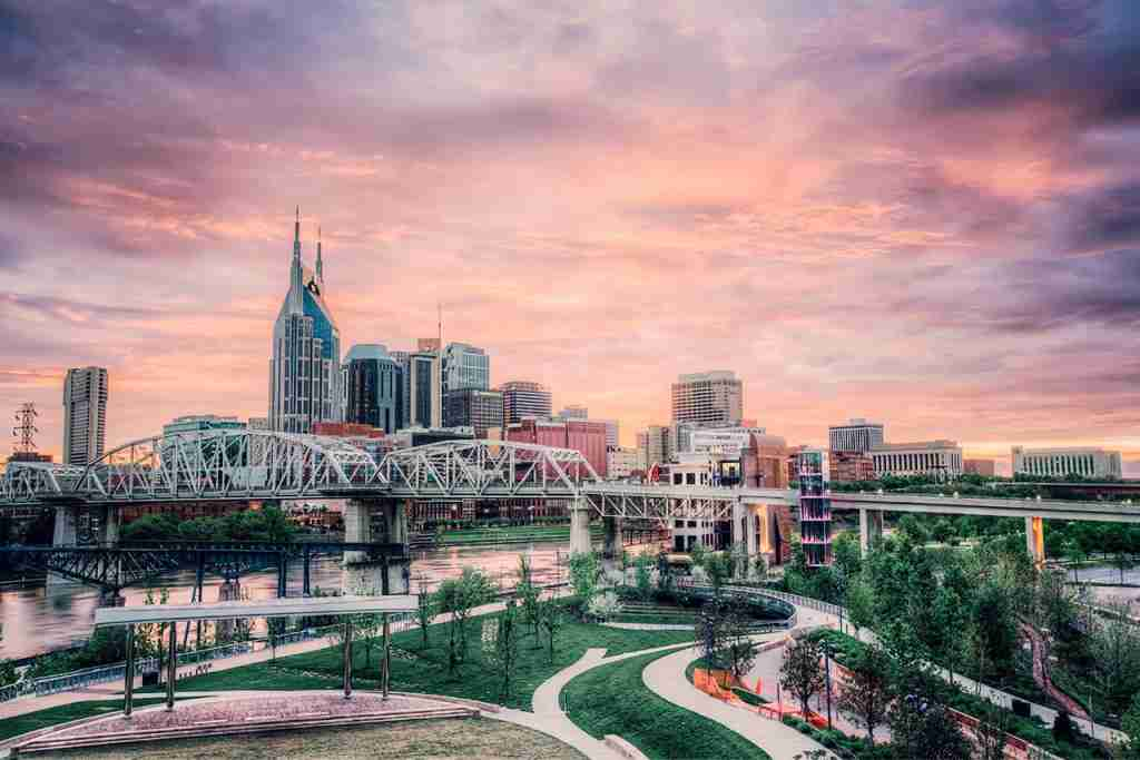 The Nashville skyline. (Photo by Malcolm MacGregor/Getty Images)