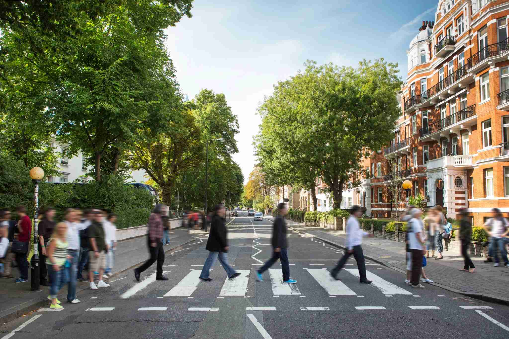 Take an iconic photo along Abbey Road on your next trip to London. (Photo by Richard Boll / Getty Images)