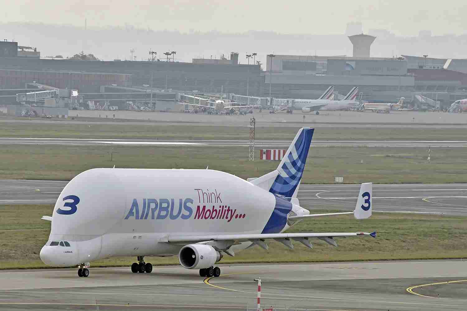 The original Beluga at Toulouse-Blagnac airport in September, 2014. (Photo by Pascal Pavani/AFP/Getty Images)