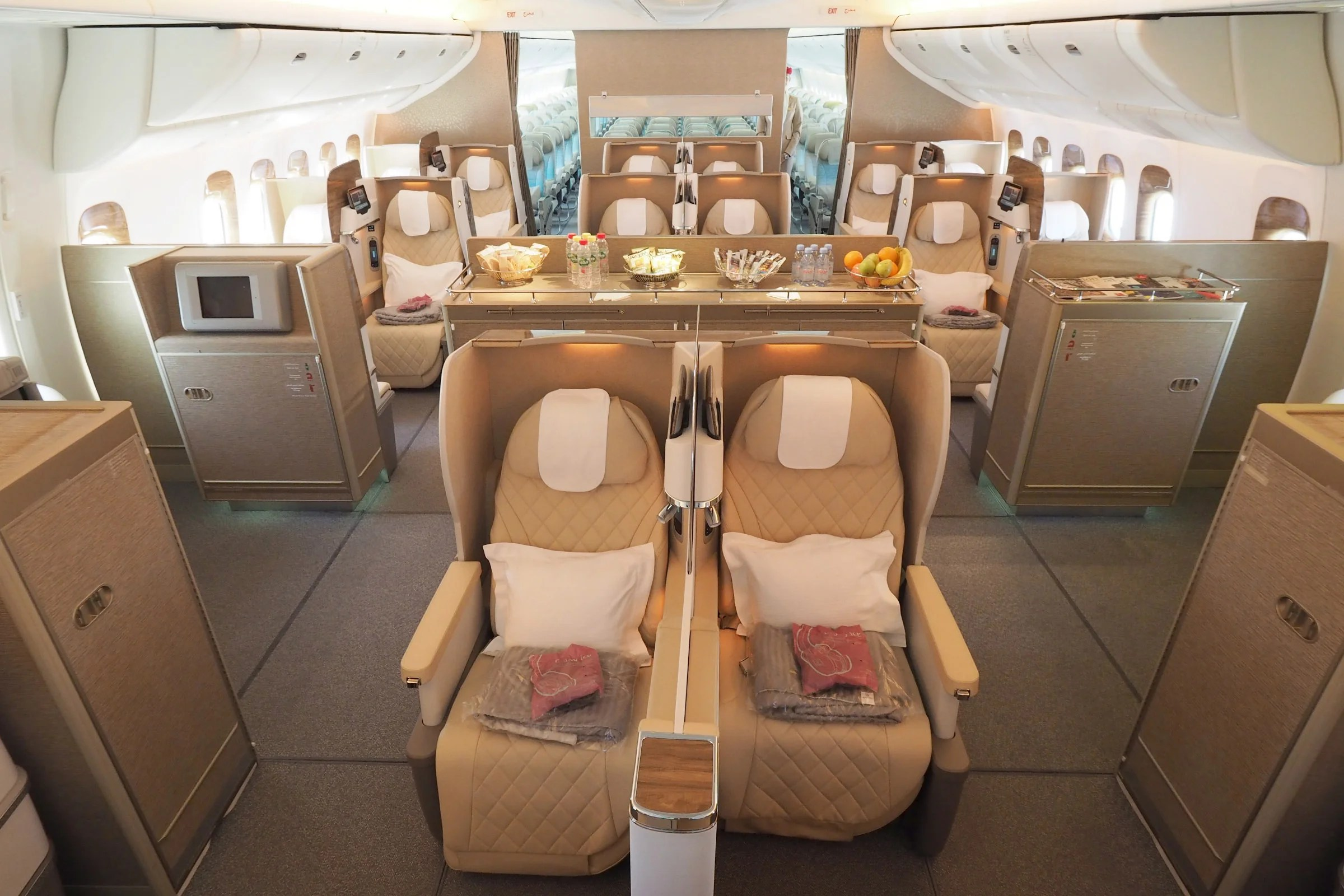 Astounding Check Out Emirates First 777 With The New Biz Class Seats Ocoug Best Dining Table And Chair Ideas Images Ocougorg