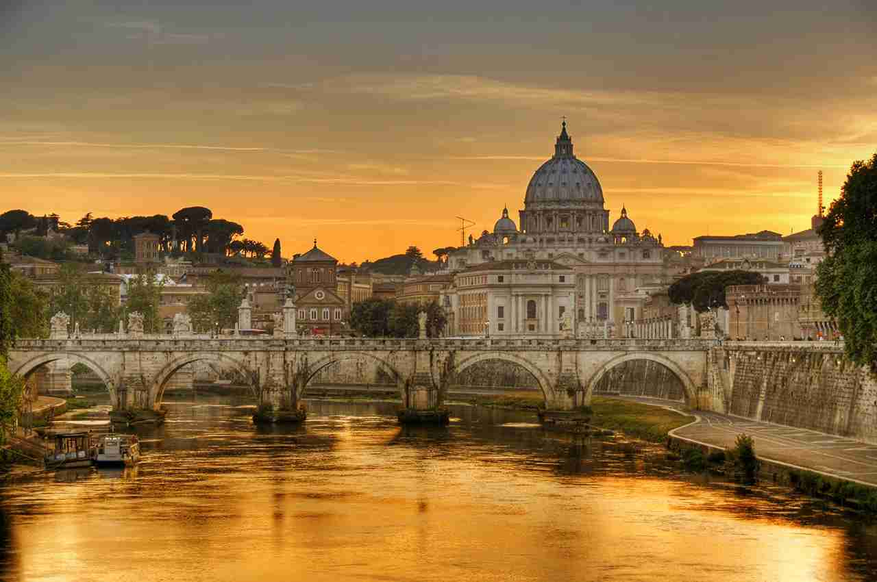 Tevere river and Vaticano, Rome. (Photo by cuellar/Getty Images)
