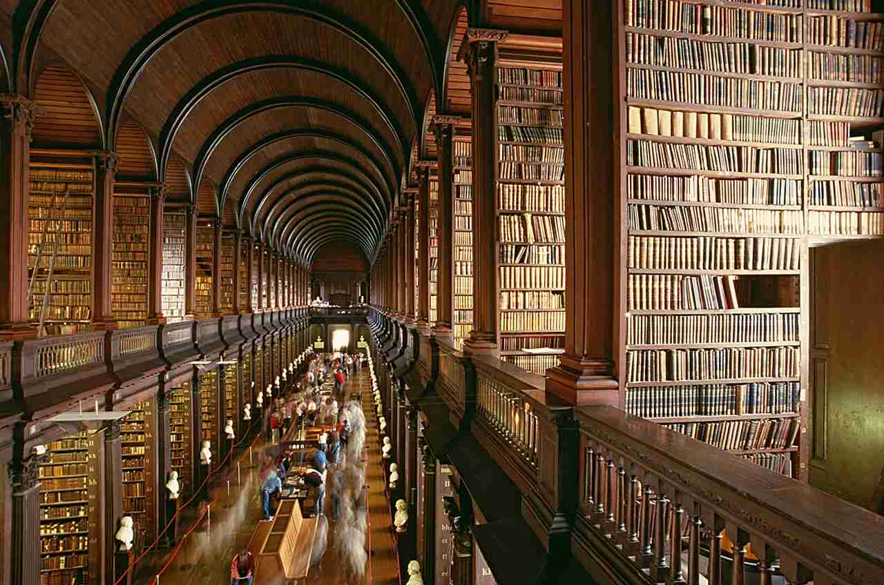 Book lovers should check out the Old Library at Trinity College in Dublin. (Photo by clu/Getty Images)
