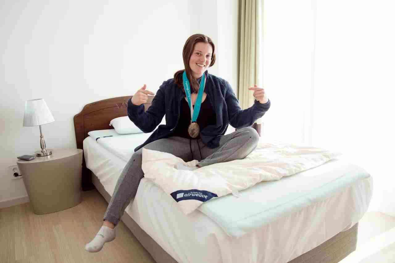 Bronze medalist Arielle Gold with airweave products.