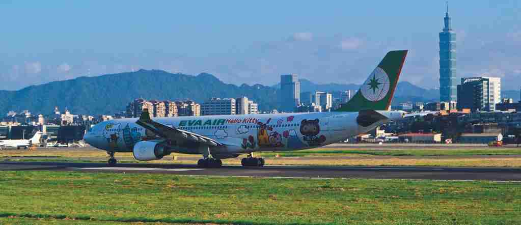 EVA Air BR190 TSA HND B-16333 Hello Kitty Around The World Livery Airbus A330-302. (Photo by Cy Speed/Flickr)