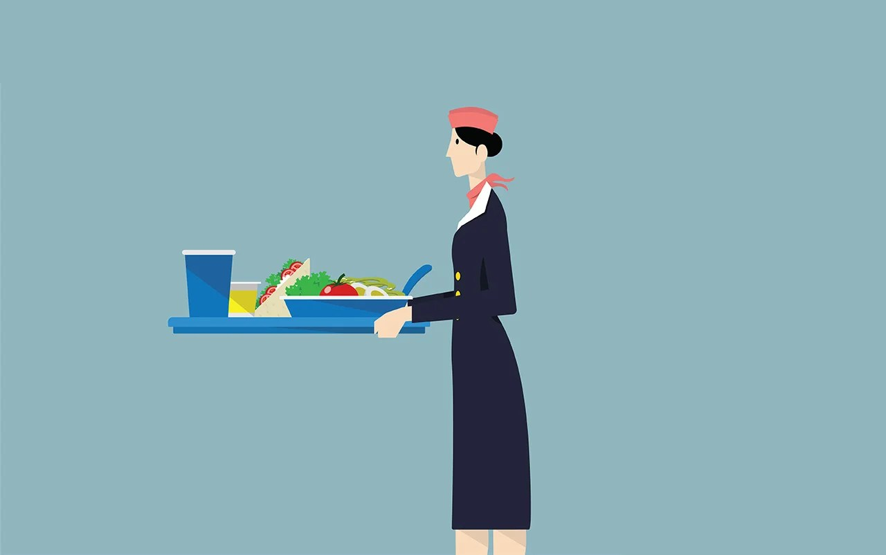 Here's What Flight Attendants Actually Eat While Flying