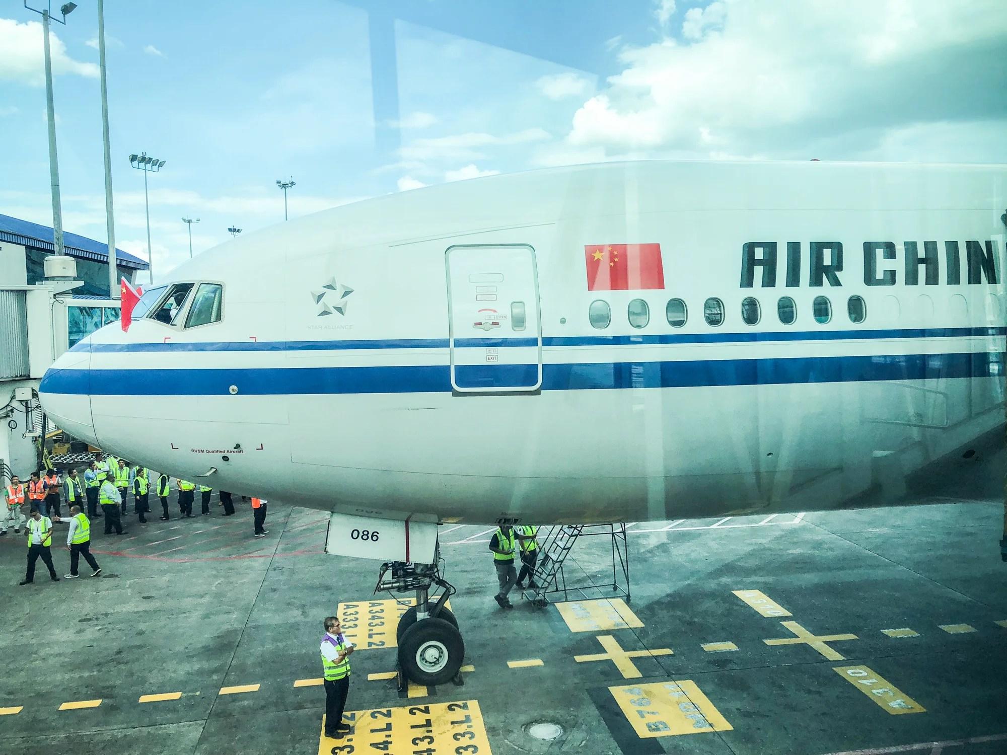 Houston to Panama in Biz Class on Air China\'s 777-300ER